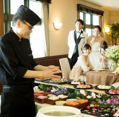 ※お盆9days限定【挙式料全額無料】黒毛和牛ステーキ&本鮪中とろ寿司 LIVE 料理試食